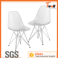 Alibaba China Supplier Good Quality Handy Stackable Emes Chair PC Material Stable Steel Frame Chair Various Colors Lady Chair