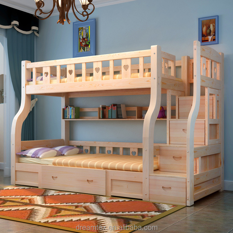 Venta caliente nuevo dise o de madera maciza cama litera - Disenos de camas para ninos ...