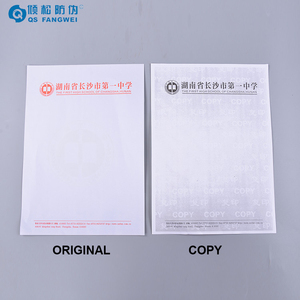 Custom cheap price security anti-copy paper with watermark, anti copy paper