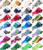 Wholesale Over 400 Designs Plastic Paper Nail Transfer Foil Sticker Decal in Stock