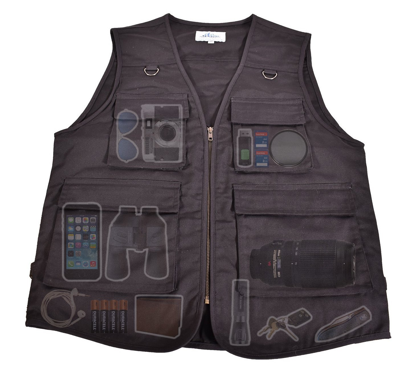 Outdoor Safari Photographer's Vest| Travel Vest| Hiking Vest| Fishing Vest| Sports Vest| Utility Vest| Bird Watching Vest| Durable Work vest| Keep all of your items within reach!|
