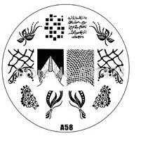 2015 new A Series A58 Nail Art Polish DIY Stamping Plates Image Templates Nail Stamp Stencil