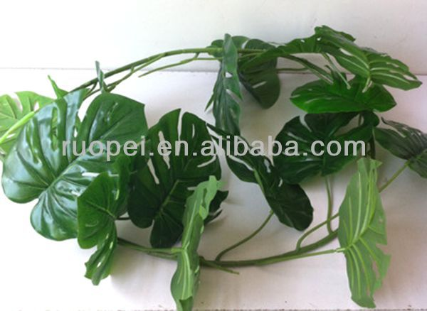 2014 Cheap decorative artificial plam tree leaves made in China