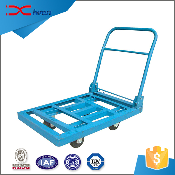 High quality durable warehouse goods foldable hand trolley