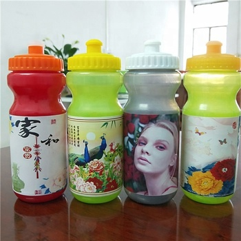 Hot sale new style flat plastic bpa free water bottle