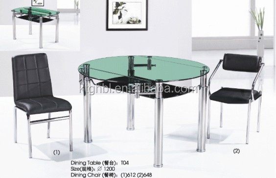 expandable glass dining table, expandable glass dining table