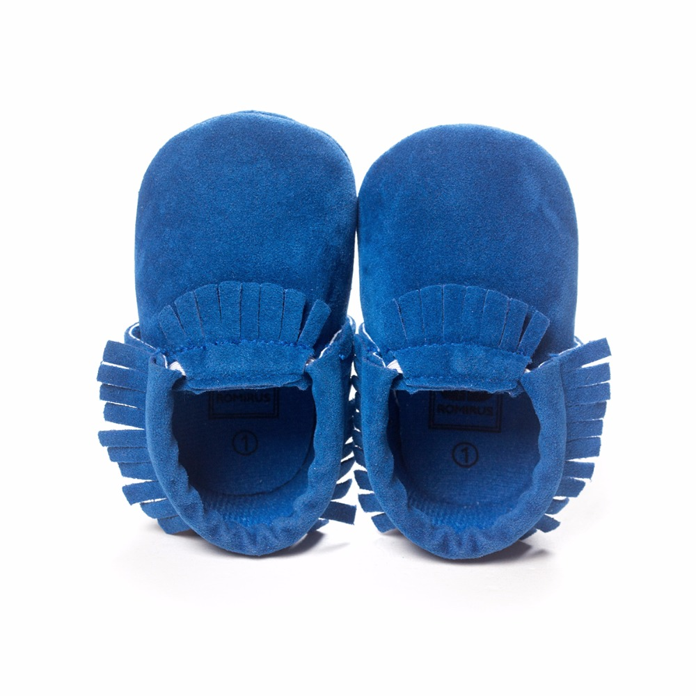 Adorable Soft Sole kids girl boy suede moccasins breathable leather italian baby shoes