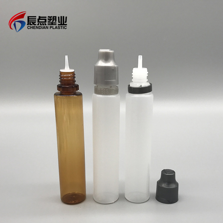 Latest Design 10ml 30ml 50ml 60ml Pen Shape PET E-Liquid Plastic Pinhole Bottles