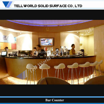 Small Elegant Design Square Bar Counter For Commerical Led Furniture ...
