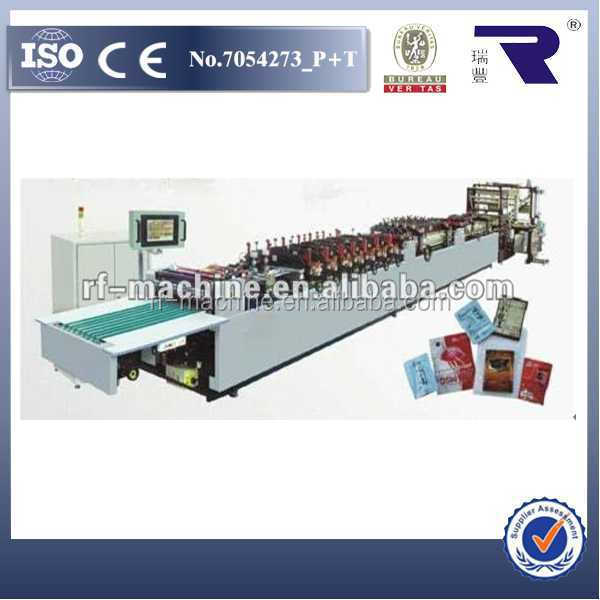 Ideal equipment RFZD-600B High Speed Automatic self stand Bag making machine, 3 side sealing machine