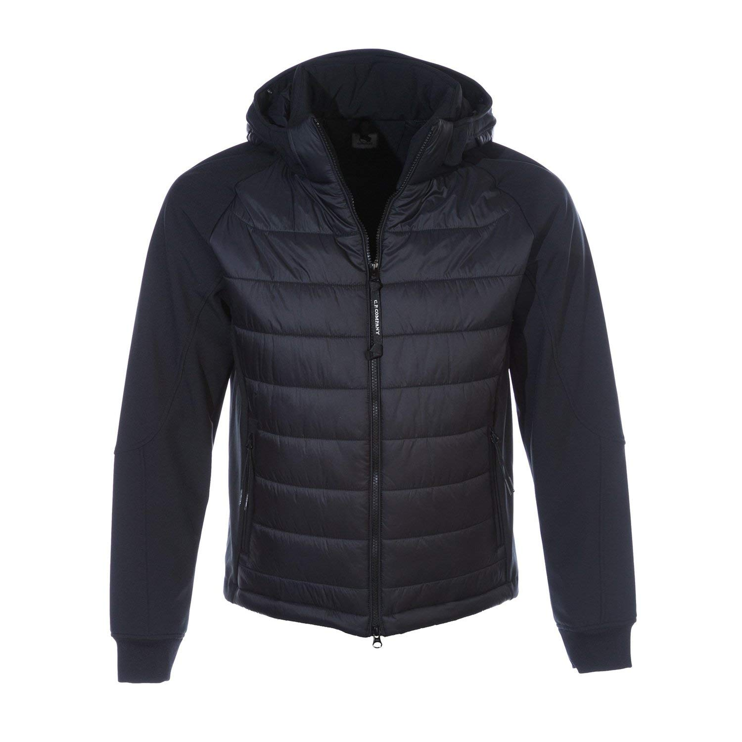 CP Company Quilted Soft Shell Jacket in Black