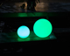 Solar/ DC/ Inductive charging LED ball, PE plastic, 16 colors light with IR remote control, waterproof