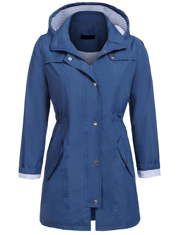 eb4330290 Get Quotations · UNibelle Womens Lightweight Hooded Waterproof Active  Outdoor Rain Jacket S-XXL