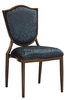 2015 modern comfortable style luxury dining chair with hand carved cane back