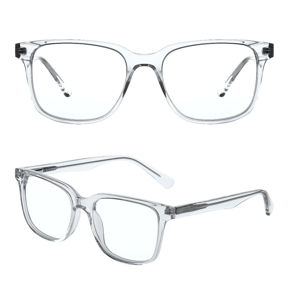 7b4b43b9bf acetate man transparent color optical frame kingsman glasses china OEM  ready goods custom eyewear manufacturing