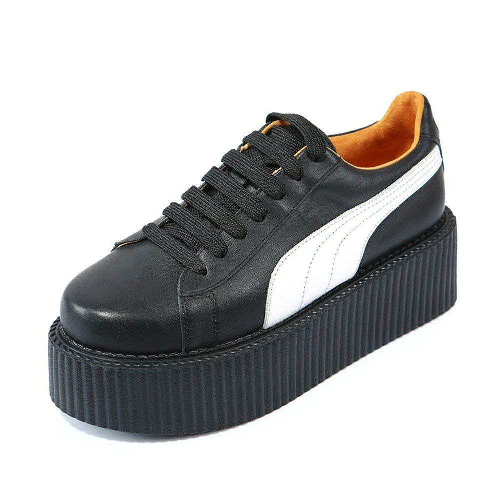 e3d3d0f7824be Get Quotations · RoseG Women Leather Lace up Platform Oxfords Flats Punk  Goth Creepers
