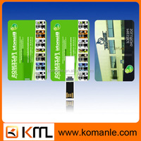Promotional super thin plastic usb flash drive card with business picture