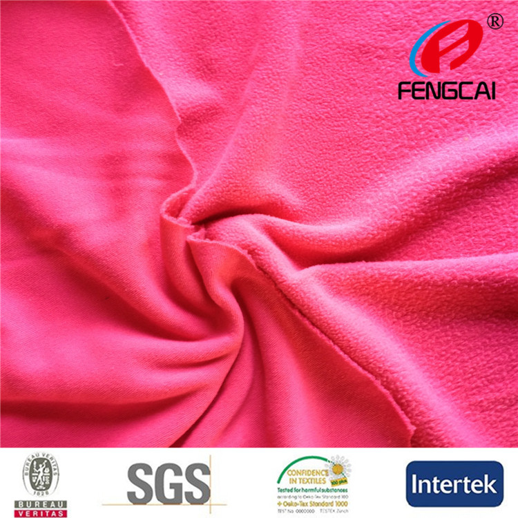 China supplier 100 polyester weft knit polar fleece fabric for garments