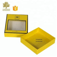 yellow matte finish cardboard mailing box business card packaging box