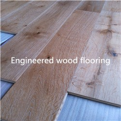 Foshan factory natural prefinished white oak solid hardwood flooring