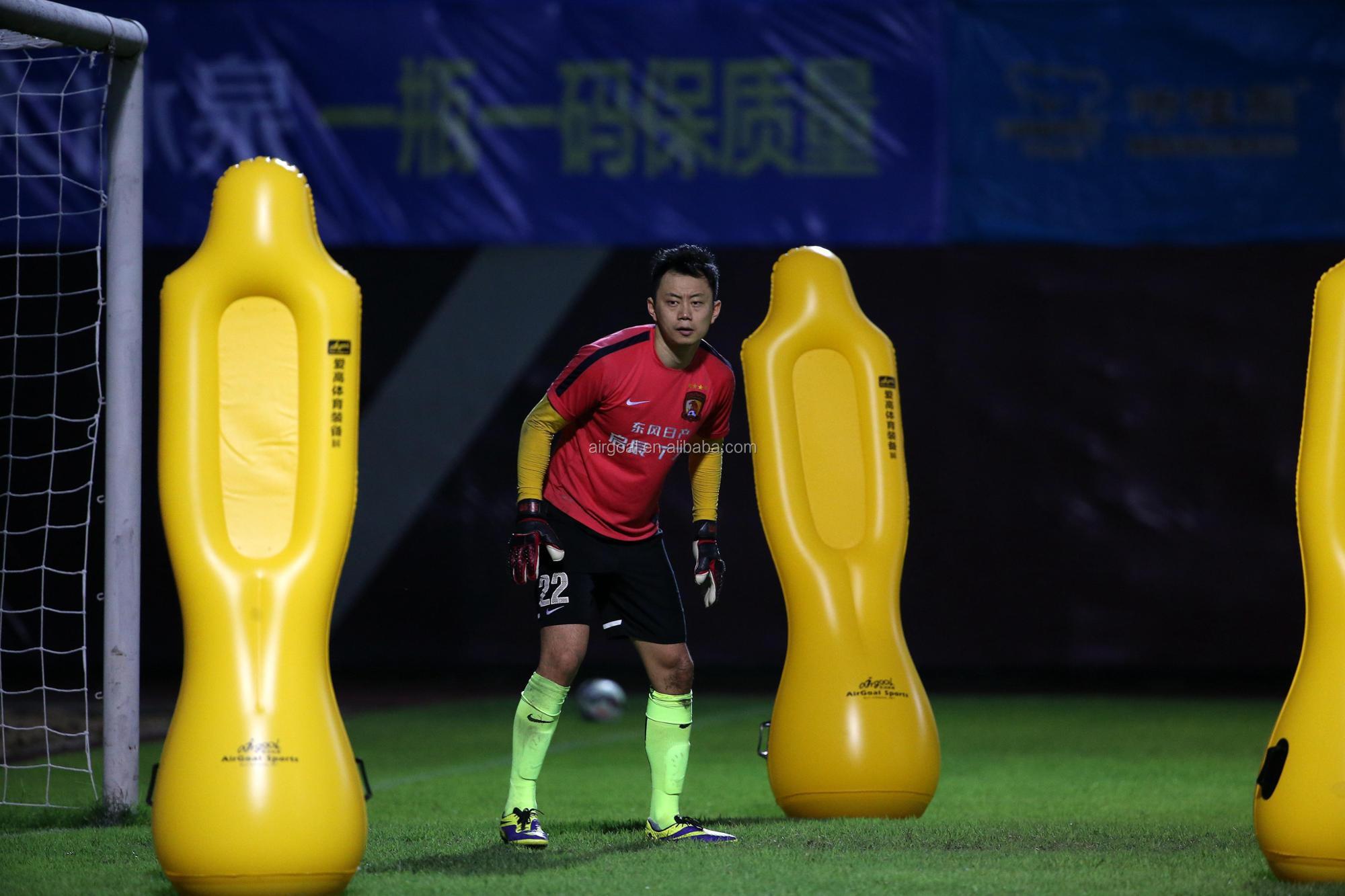PVC inflatable soccer training dummy mannequin de football