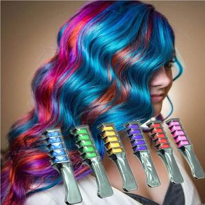 2018 The Newest Professional Temporary Chalk Easy Color Harmless Hair Dye With Touch Comb