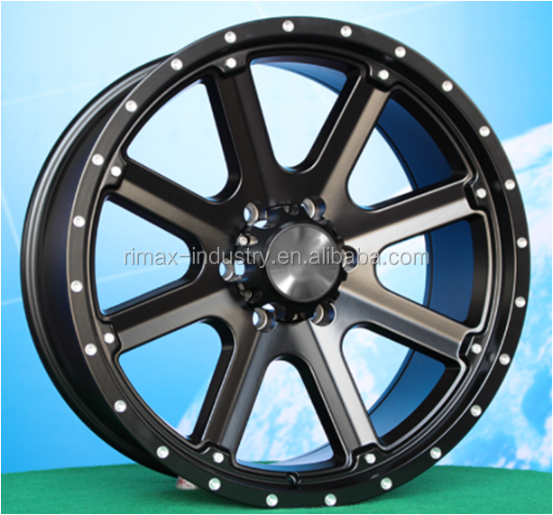 20X9.0 FUEL black machine face concave aluminum alloy wheel for pickup truck, 4x4 from China factory JWL/VIA/TUV/TS16949