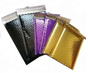 new products composite anti-abrasion colored aluminum foil metallic padded bubble mailers