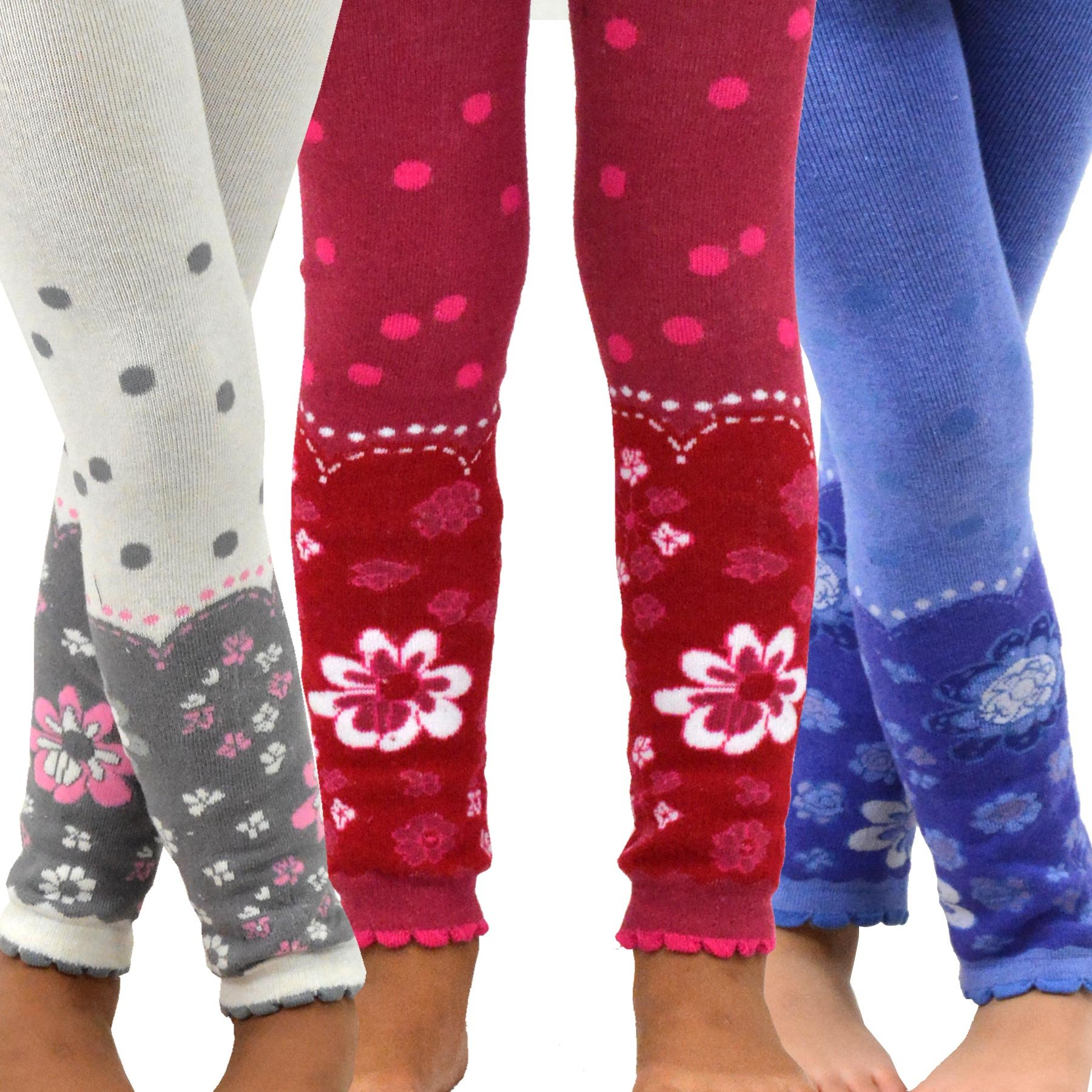 1b7ea6d961c Get Quotations · TeeHee (Naartjie) Kids Girls Fashion Cotton Leggings (Footless  Tights) 3 Pair Pack