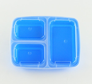 Take away blue Disposable PP Plastic Microwave meal prep Food Container Lunch Box with Lid