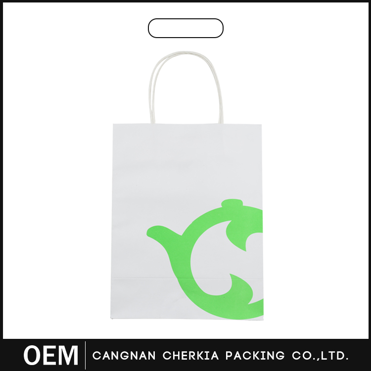 Customized top quality fashion shopping logo paper bags