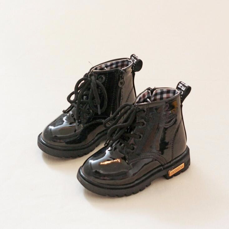 Kids PU Leather Boots Teen Boys Girls Spring Shoes Children Martin  Motorcycle Boots Chaussure Enfant Waterproof Ankle Rain Boots - us316 eccd5acb4a5