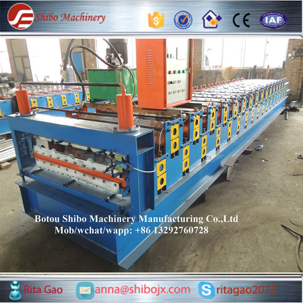 Double corrugated and trapezoidal steel roof sheets machine 850-840
