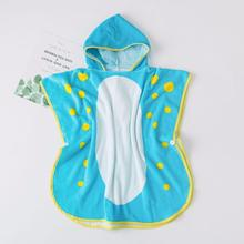 comfort kids blanket printed design pure cotton child caped hooded bath towel Cut pile soft baby blanket 62229