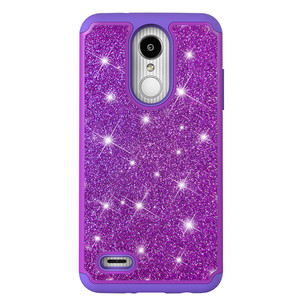 2018 Mobile Phone Accessories New Type Glitter Star PC+Silicone Cell Phone Case For LG k8 2018