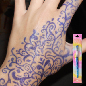 Easily use temporary tattoo painting body art pen