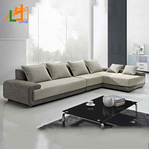 2018 new style european model leather L shape sofa,3 seater corner fabric sofa for living room