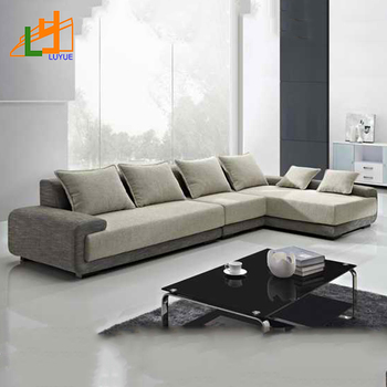 2018 New Style European Model Leather L Shape Sofa 3 Seater Corner Fabric For