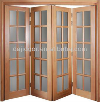 Wooden Glass Accordion Doors For Patio DJ-S510 : acordian door - pezcame.com