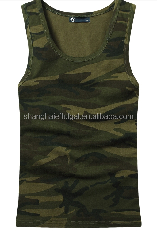 2015 Latest design Mens cotton camo vest