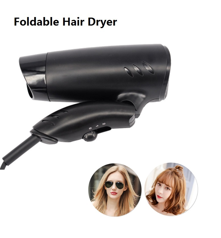 Super Cheap mini portable hair driers 1000w beautiful design foldable hair dryer