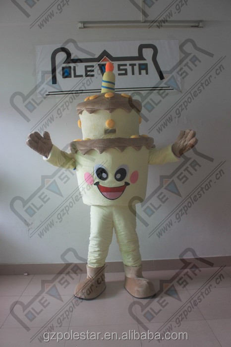 durable high quality birthday cake mascot costumes