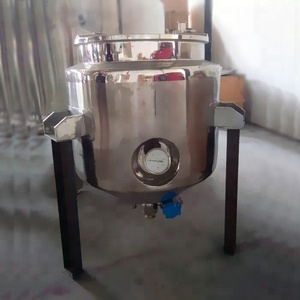 Conical Bottom Palm Oil Storage Tank with pneumatic ball valve