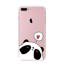 Lovely Animal Silicone Case for iPhone 6, Soft Panda Phone Case for iPhone 6 Plus