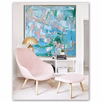 Handpainted large canvas art modern abstract oil painting for home decor