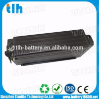 Black Li-ion Ebike Battery 48V 15Ah Rack Mount