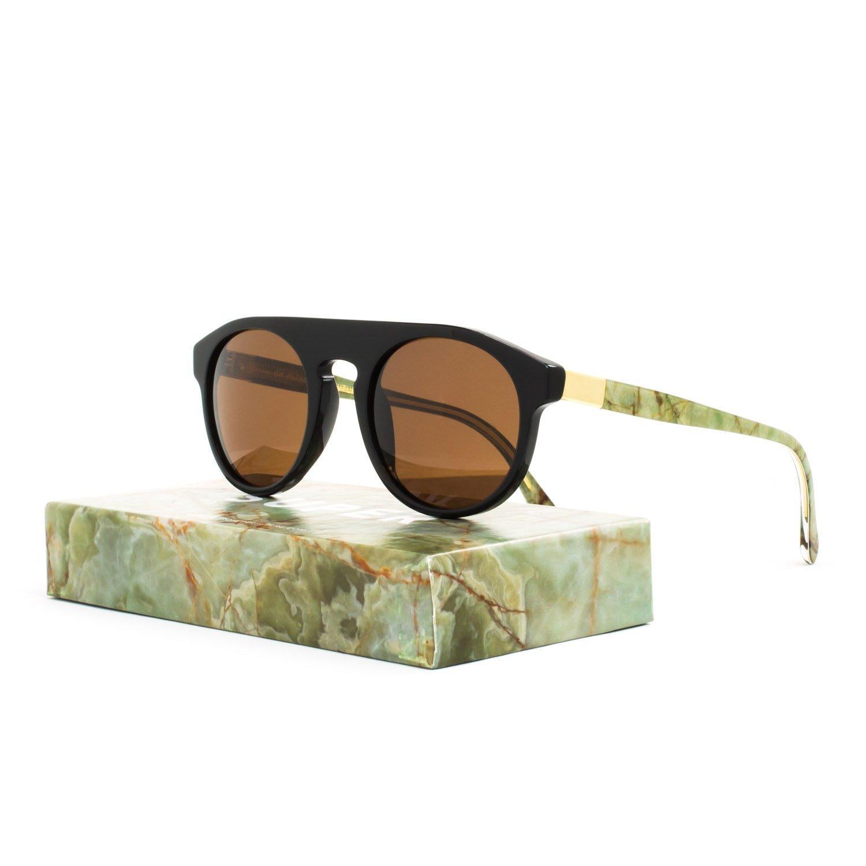 5788b9989b68 RETROSUPERFUTURE Super Racer Onice Verde Sunglasses I07 Black Gold Mineral  Brown