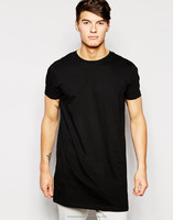 New fashion 100% Cotton Loungewear t shirt for mens with wholesale price/Cheap price jersey Crewneck men's Longline T-Shirt