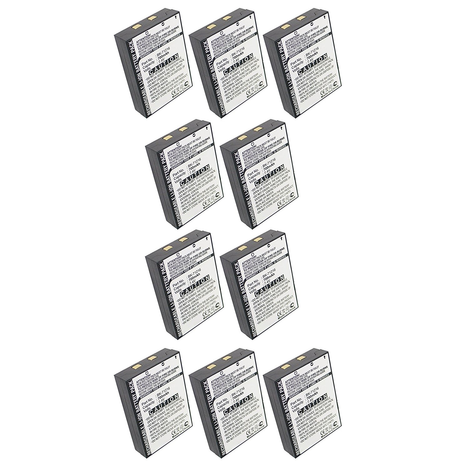 10pcs Exell FRS Two-Way Radio Battery Fits Cobra CXR 700, CXR 750, CXR 800, CXR 850, LI3900, LI3950, LI4900, LI5600, LI6000, LI6050, LI6500, LI6700, microTALK CXR700 25-Mile Radio, microTALK CXR800 27-Mile Radio , microTALK LI3900-2 DX 14-Mile Radio, microTALK LI4900-2 WX 18-Mile Radio , microTALK