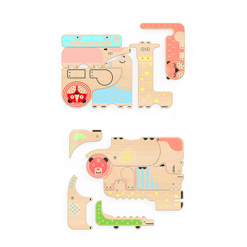 Educational Transportation Baby Custom Puzzle Game Toy Wooden Puzzle